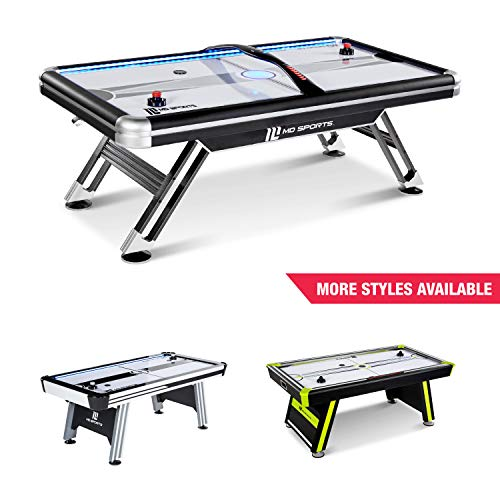 MD SPORTS Titan 7.5 ft. Air Powered Hockey Table with Overhead Scorer - Foot Hockey Table