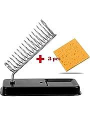 CuiGuoPing - Soportes para soldador eléctrico (con 3 almohadillas de esponja, resistencia genérica a altas temperaturas)