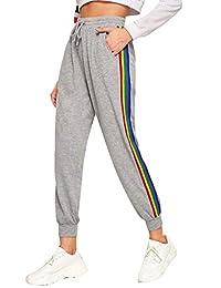 SweatyRocks - Pantalón Largo con Bolsillos para Mujer, diseño Floral