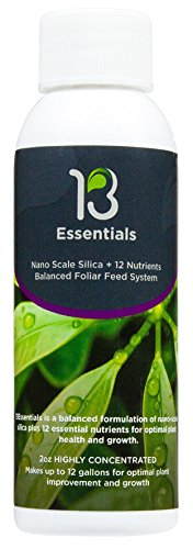 - 13Essentials - Foliar Spray Fertilizer, Food for Stunning Growth and Healthier Plants, Non-Toxic, Yield Maximizer - Liquid Fertilizer for Indoor and Outdoor Plants, Vegetables, Flowers, Cannabis (2oz)
