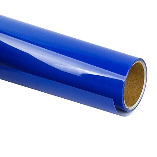 RUSPEPA Heat Transfer Vinyl HTV - Iron On for DIY T-Shirts, Craft Garment Heat Press - 12inch X 3Feet Roll - Royal Blue