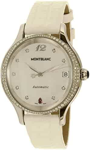 Montblanc Women's Princess Grace De Monaco 109273 Silver Alligator Leather Swiss Automatic Watch