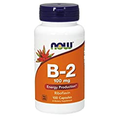 Now Vitamin B-2 (Riboflavin) 100 mg 100 ...