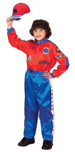 Aeromax Jr. Champion Racing Suit with Embroidered Cap, Size 8/10 (Halloween Costume Winners)