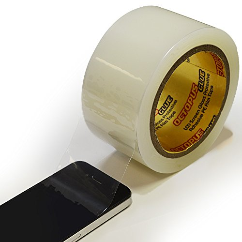 Octopus Glue® LCD Screen Glass Protective Adhesive PE (Polyethylene) Film Tape 550 - 55mm x 100M (2.17in X 328ft) (550 Film)
