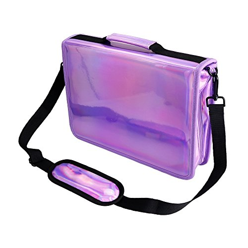 Travel Leather Cosmetic Brush Pen Holder (Purple) - 7