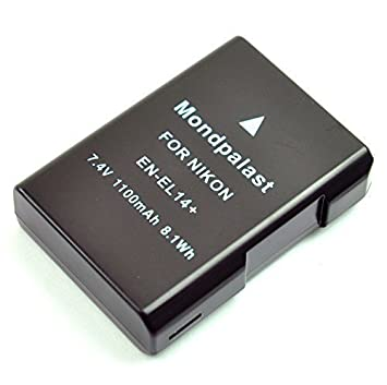Mondpalast @ EN-EL14 ENEL14 enel14 Batería para Nikon D3100 D3200 D5100 D5200 D5300 D5500 coolpix P7000 P7100