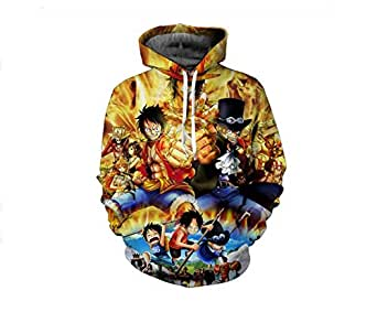 ONE PIECE anime printing fashion cotton hoodie round collar full sleeves casual sweatshirt sport hoodie