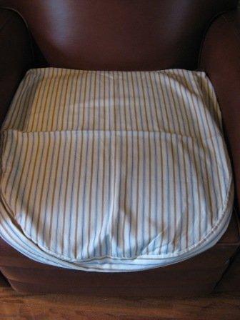 Pottery Barn Malabar Seat Cushion Cover Natural Stripes