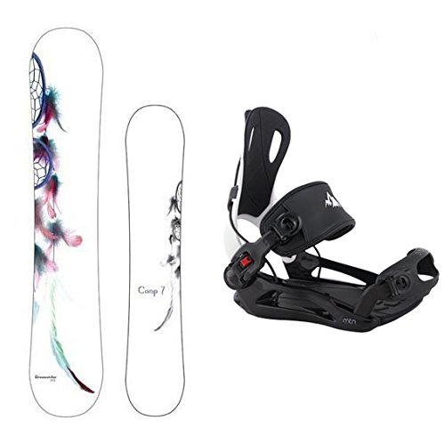 Camp Seven Dreamcatcher with MTN Rear Entry Step in Style Bindings Women's Complete Snowboard Package