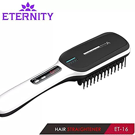 prxd Ionic cepillo de pelo cabello alisador de cabello de iones negativos temperatura función de bloqueo antiquemaduras diseño: Amazon.es: Belleza