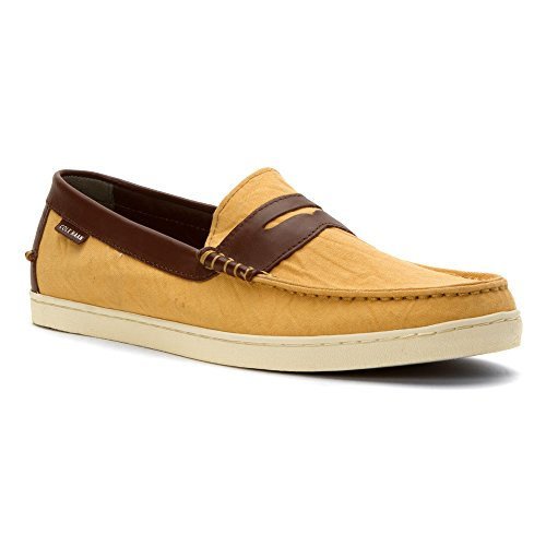 20d436113d5 Galleon - Cole Haan Men s Pinch Weekender Taffy Canvas Harvest Brown  Leather Loafer 8.5 D (M)