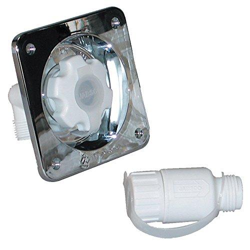 Jabsco Water Pressure Regulator - Flush Mount - Chrome - 45 - Regulator Pres