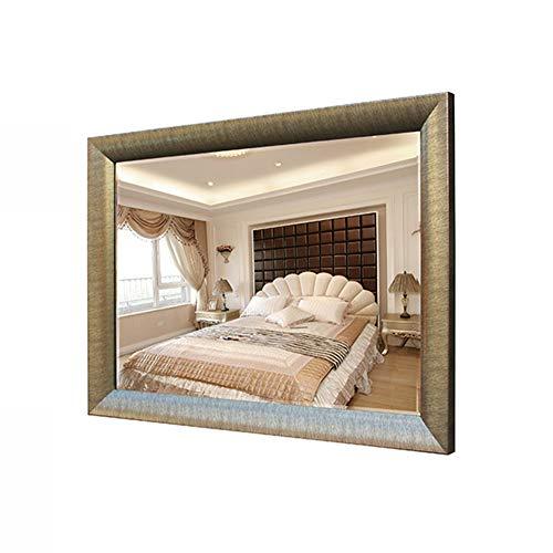 XLCZ Solid Wood Bathroom Mirror,Wall-Mounted Mirrors, Champagne/Walnut Wall-Mounted Vanity Mirrors,Hangs Horizontal Or -