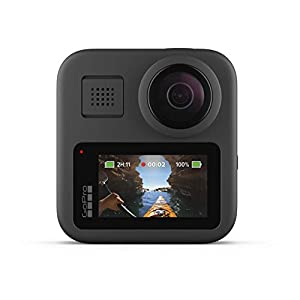 GoPro MAX � Waterproof 360 + Traditional Camera with Touch Screen Spherical 5.6K30 HD Video 16.6MP 360 Photos 1080p Live Streaming Stabilization (Renewed)