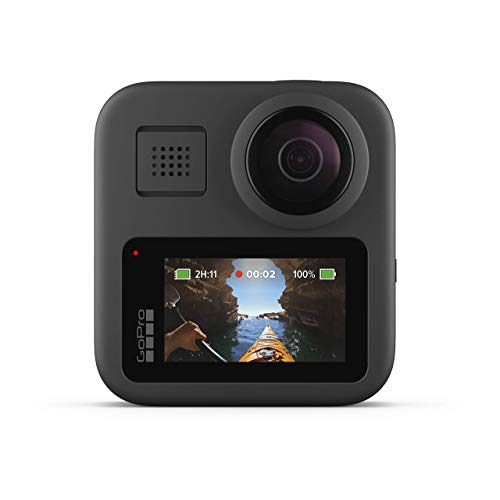 GoPro MAX Waterproof 360 + Traditional Camera with Touch Screen Spherical 5.6K30 HD Video 16.6MP 360 Photos 1080p Live…