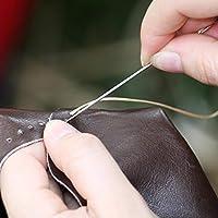Tama/ños Variados Estilo B Chuangdi 6 Piezas de Agujas de Abalorios Bordado Plegable de Ojo Grande de Acero Inoxidable Agujas de Costura