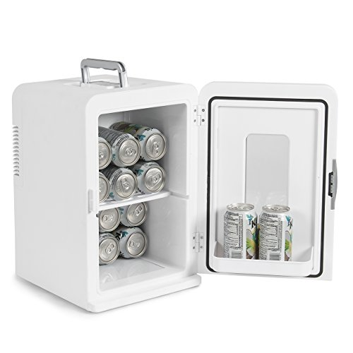 Della-Portable-Mini-Fridge-Camper-RV-Dorn-Home-Office-Boat-LCD-Cooler-and-Warmer-15L-White