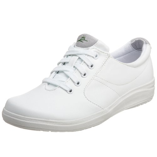 Grasshoppers Women's Stretch Plus Lace-Up Sneaker,White,6 M US