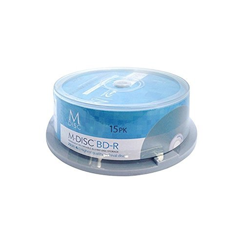 M-DISC 25GB Blu-ray Permanent Data Archival / Backup Blank Disc Media - 15 Pack Cake Box by Millenniata Inc.