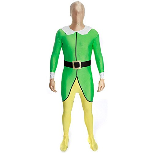 [Morphsuits Premium Elf  XL, Green / Yellow / Black / White, X-Large] (Yellow Morphsuit)