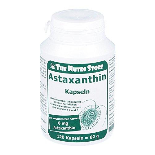The Nutri Store Astaxanthin 6 mg vegetarische Kapseln, 120 Stück