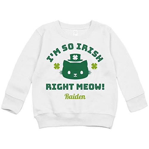 FUNNYSHIRTS.ORG St. Patrick's Day So Irish Raiden: Toddler Crewneck Sweatshirt White