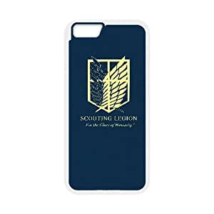 iphone6 4.7 inch Case, Attack On Titan-Logo Cell phone case White for iphone6 4.7 inch - SDFG8755368