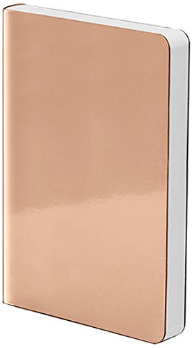 Nuuna Graphic S Luxury Dot Grid Notebook with Metallic Vegan Leather Cover - STARLET COPPER (Copper Mirror Polar)