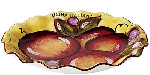 (Cucina Italiana Ceramic Large Pasta Salad Fruit Serving Bowl Round 13 x 13 )