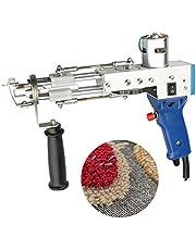 TZUTOGETHER Tufting Pistool, elektrisch tapijt, tufting Gun Loop Pile, vlokkenmachine voor tapijten, tapijtbuffelpistool, handbreimachine buffelpistool, 5-45 steken/sec (instelbaar)