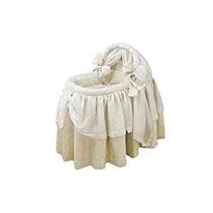 Babydoll Lime Wonders Bassinet Set, Ecru