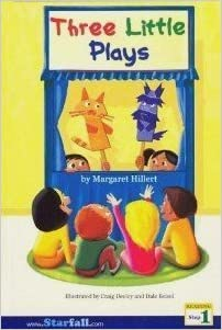Book Three Little Plays, for the Earliest Reader (Reading, Step 1)