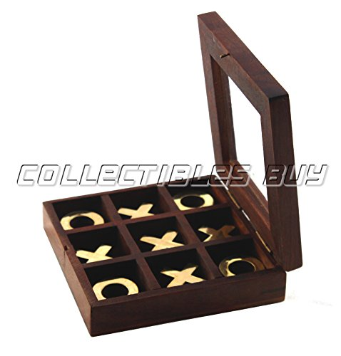 Wood Cross Puzzle - Solid Wood TicTacToe Wooden Board Games Noughts and Crosses Family Brain Teaser Puzzle Coffee Table Handmade Article