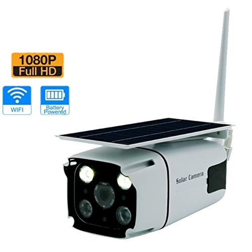 210 Indoor Network Camera - QUARKJK Solar Energy IP Camera 1080P Wireless Security WiFi Camera with Built-in Battery Motion Detection Outdoor Indoor