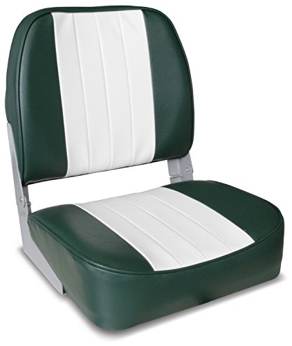 Leader Accessories Deluxe Folding Marine Boat Seat (White/Green)