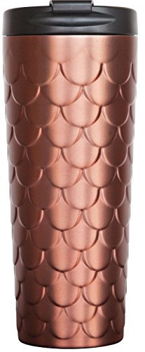 Holiday 2017 Starbucks Stainless Steel Tumbler -Copper Mermaid Scales 18 Fl Oz