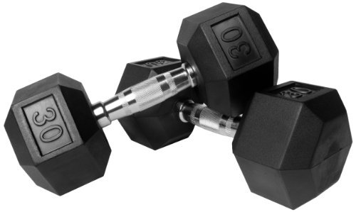 Xmark Rubber Hex Dumbbell Pair by XMark Fitness by XMark Fitness