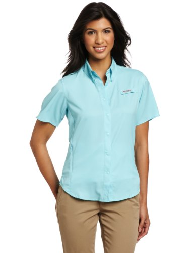 Columbia Women's Tamiami II Short Sleeve Shirt, Clear Blue, X-Large
