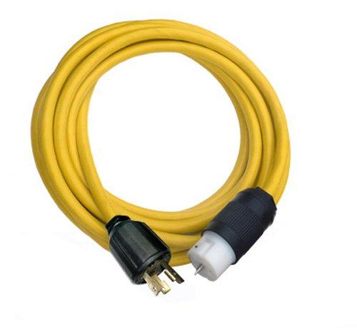 Conntek Transfer Switches Cord / Temp Power Cord, L5-30P 30-Amp 3 Prong Locking Plug to CS6364 50-Amp Locking Female (25-Feet) by Conntek
