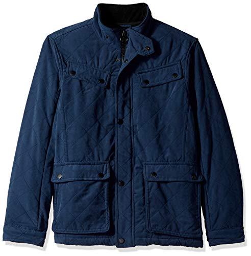 (Urban Republic Mens Microfiber/Quilted Fleece Jackets, Blue, L)