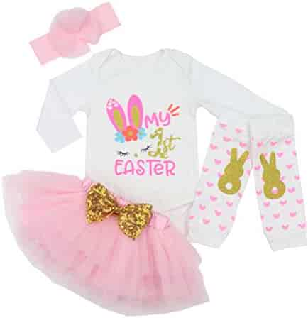 Happy Fathers Day Baby Girl Outfit Letter Print Rompers+Tutu Dresses Shorts+Leggings+Headband 4PCS Skirt Set