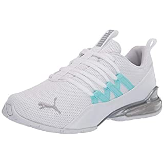 PUMA Women's Riaze Prowl Sneaker, White-Gulf Stream, 8.5 M US