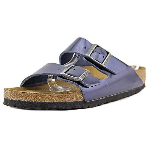 (Birkenstock Unisex Arizona Metallic Sapphire Leather Sandals - 9-9.5 2A(N) US Women/7-7.5 2A(N) US Men)