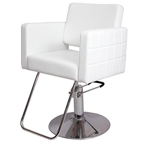 Bosalaya New Barber Chair White Styling Hair Beauty Salon Spa Equipment by Bosalaya