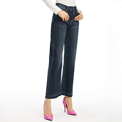 Comodi Da Cowboy S Alta E Mvguihzpo Pantaloni Scoperta Larghi A Xs Jeans Larghi Vita Blue Donna Gamba vxvFPwpq