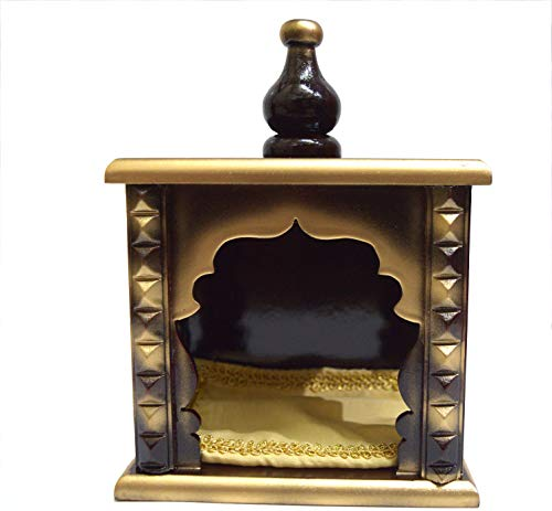 Hindu Religious Small temple made with wood & Mdf, Hand Painted with Om symbol Indian Home Temple/Mandir Small (Indian Mandir)