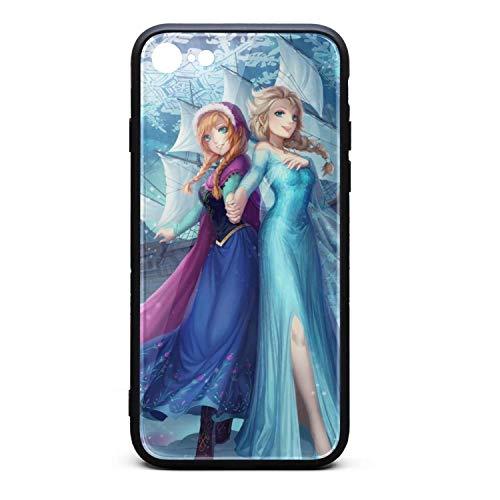 (Moromly Anti-Scratch iPhone 7/ iPhone 8 Case 9H Tempered TPU Glass Back)
