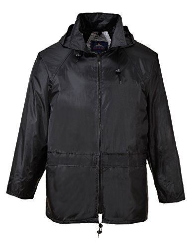 Portwest - Mens Classic Rain Jacket, Waterproof Workwear (US440) (XL (Chest (46-48in), Black)