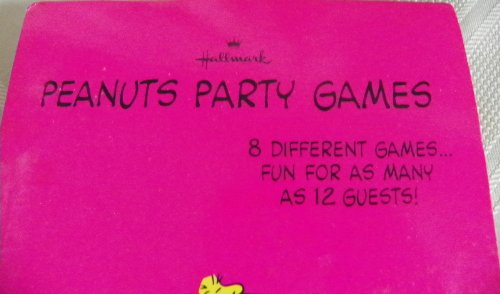 Hallmark 1970's Peanuts Birthday Party Games Booklet for 12 Guests